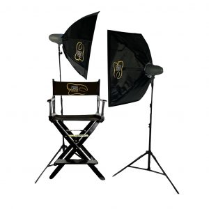 Studio lights for dental photography kit